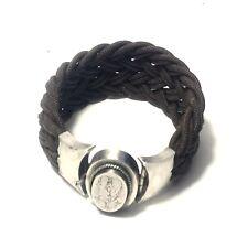Rare  Bracelet De Cheveux De Cheveux Fermoir Argent Monogramme Circa 1820 / 1830