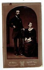 Victorian cdv photo couple man standing Coleraine photographer