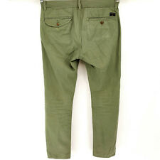 Quiksilver Straight Fit Chino 32 Flat Front Slim Modern Khakis Casual Pants