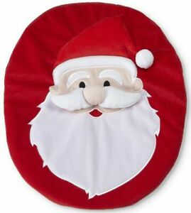 """SOFT 3D LID TOPPER FOR TOILET (13.5"""" x 16.5"""") SANTA ON RED by Cannon"""