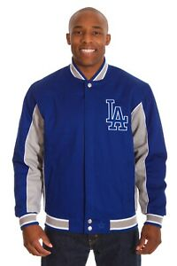 MLB Los Angeles Dodgers Cotton Jacket  Reversible Royal & Gray Color JH Design