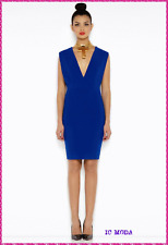 AQ AQ PHOEBE BLUE BACKLESS MINI PARTY DRESS in Blue Size UK4 EU32 RRP£110