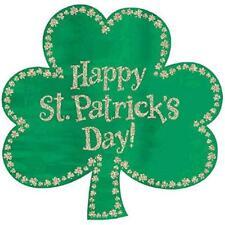 St. Patrick's Day Irish Green Shamrocks Holiday Party Decoration Glitter Cutout