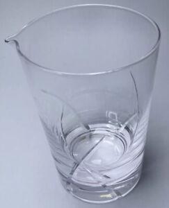 HOMESTIA 24 OZ SEAWEED PATTERN CRYSTAL MIXING GLASS LEAD FREE