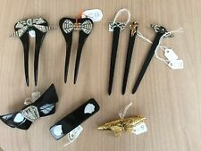 Stunning Black Pierre Bex Hair Combs/Slides  CHOOSE Design From Pictures