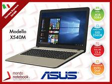 "Notebook Laptop PC ASUS X540M 15,6"" - Intel Inside N4000 - SSD 256GB - 4GB Ram"