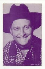 Max Terhune 1940's Salutations Cowboy Purple Exhibit Arcade Card