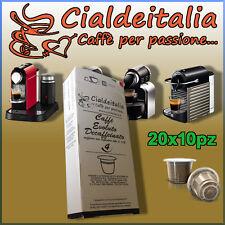 200 capsule Cialdeitalia Caffè EVOLUTO DECAFFEINATO DEKA Compatibili NESPRESSO