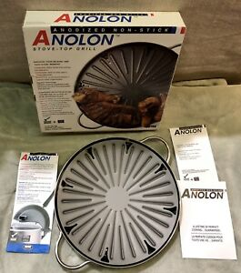 """Anolon Stove-Top Grill-11""""-Pan nonstick cooking cookware~NIB"""