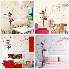 Removable Butterfly Fairy Dancer Floral Wall Sticker Kids Girls Home Decor AU