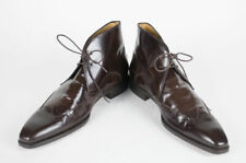 New SUTOR MANTELLASSI Patent Leather Chukka Boots Shoes Size 11.5 US $1295