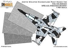 Arctic Splinter Camouflage Paint Mask F/A-18 Hornet 1/48 Aggressor Camo DNModels