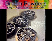 anthracite GREY BLACK FW655F 1kg Powder Coat Coating Refurbishment Alloy Wheel