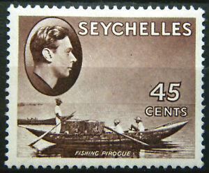 Seychelles Stamp 1938-49 45c King George VI Scott # 140 SG143 MINT OG H