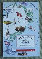 IL GIRO DEL MONDO-ISLANDA E GROENLANDIA-ALBUM FIGURINE MONDADORI