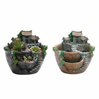 Flower Pot Succulent Plants Holder Home Garden Desktop Potted Resin Decorations