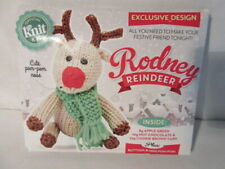 Let's Knit: Rodney Reindeer Knitting Kit Plus Buttons & Mini Pom Pom! Mip