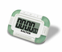 Salter Electronic 4-Way Digital Timer - White & Green - Time 4 Things At Once