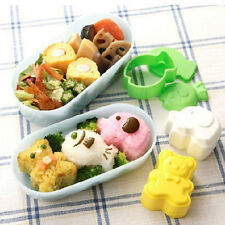 3 pcs Set Animals Shaped Sushi Rice Mold Bento Maker Sandwich Cutter Decor Mould