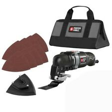 PORTER CABLE PCE606K 3 Amp Oscillating Multi-Tool Kit with 10 Accessories