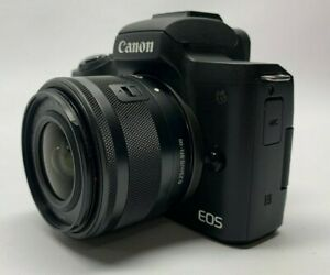 Canon EOS M50 24.1MP Mirrorless Digital Camera with 15-45mm STM Lens Black