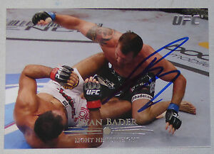 Ryan Bader Signed 2011 UFC Topps Title Shot Card #84 Autograph 192 174 144 119