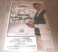 A1-Filmplakat   GARCON KOLLEGE KOMME GLEICH , YVES MONTAND v.CLAUDE SAUTET