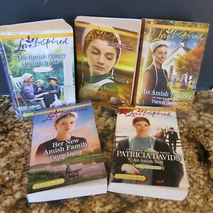 Lot of 5 Love Inspired Amish Books Large Print  Amish New Amish Family Plus