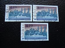 NORVEGE - timbre yvert et tellier n° 1054 x3 obl (A04) stamp norway (Z)
