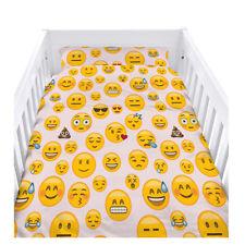 Emoji Girl Kids Cot Size Duvet Cover Set with Pillow Case Bedding Boy Girls Baby