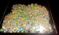 2mm Round 25 Pc Natural Ethiopian Opal Faceted Cut Gemstone Top Quality DDL148