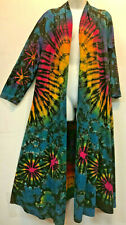 New SACRED THREADS mudmee tie dye cotton knit COAT CARDIGAN DUSTER XL Free shipp
