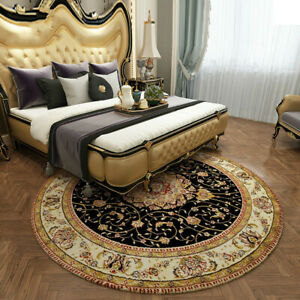 American Style Round Carpet Ethnic Style Living Room Rug Printing Bedroom Decor