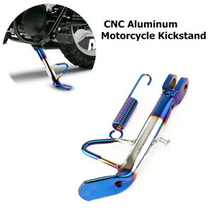 CNC Motorcycle Scooter Bike Kickstand Side Leg Blue Fit for Kawasaki Victory BMW
