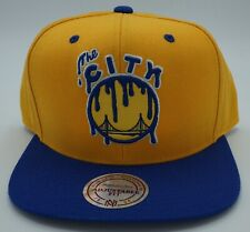 NBA Golden State Warriors Mitchell & Ness Adult Adjustable Fit Dripped Cap M&N