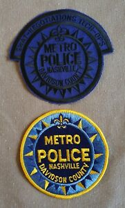 USA - 2 x Different Nashville Davidson Co Police Patches - Tennessee