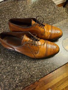 Allen Edmonds Made In the USA Sanford Brown Cap Toe Dress Shoes Mens 8.5 EEE