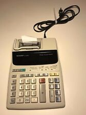 Sharp Electronic Desktop Calculator EL-1801V, 12 Digit - 2 Color Printer