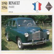 1950-1954 RENAULT PRAIRIE Classic Car Photograph / Information Maxi Card