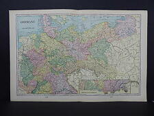 Map of Germany George F. Cram 1901 Double Page #10