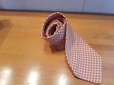 Cravatta vintage anni '60 100% seta made in Italy fantasia beige rosso