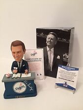 Vin Scully Signed 2012 Limited Edition Dodgers Baseball Bobblehead Beckett BAS