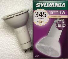 6 X 5W GU10 Long Neck LED bulb SYLVANIA 74mm x 50mm replaces 11w cfl type bulbs