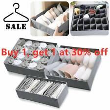 3 Pack Storage Drawer Divider Fordable Box Organiser Tidy Socks Bra Underwear~