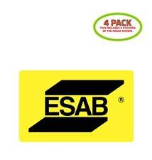 Esab Sticker Vinyl Decal 4 Pack