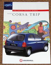 1997 VAUXHALL CORSA TRIP 1.2i Sales Brochure - Special Edition Model