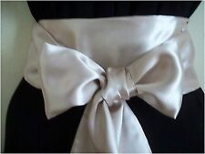 "3.5x100"" CHAMPAGNE SATIN SASH BELT SELF TIE BOW UPDATE DRESS BRIDE BRIDESMAID"