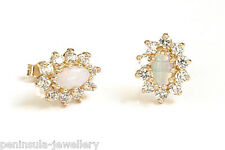 9ct Gold Opal Studs earrings Gift Boxed Made in UK