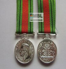 OFFICIAL WW2 - 1939 1945 MINIATURE DEFENCE MEDAL WITH RIBBON  UK MADE  WWII