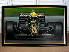 AYRTON SENNA JPS Team Lotus Unique Painting FORMULA ONE 1 GRAND PRIX F1 Racing